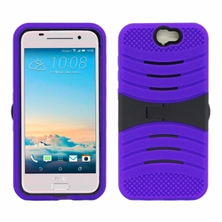 HTC One A9 Hybrid Silicone Case Cover Stand Purple
