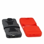 HTC One A9 Hybrid Silicone Case Cover Stand Red