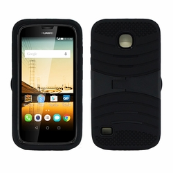 Huawei Union / Y538 Hybrid Silicone Case Cover Stand Black