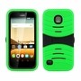 Huawei Union / Y538 Hybrid Silicone Case Cover Stand Green