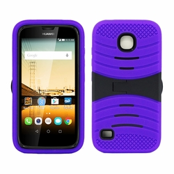 Huawei Union / Y538 Hybrid Silicone Case Cover Stand Purple