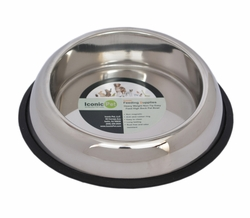 Iconic Pet Heavy Weight Non-Skid Easy Feed High Back Pet Bowl for Dog or Cat 16 oz - 2 cup
