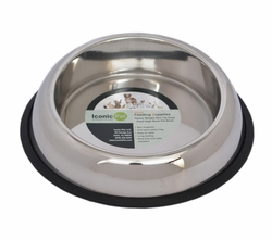 Iconic Pet Heavy Weight Non-Skid Easy Feed High Back Pet Bowl for Dog or Cat 8 oz - 1 cup