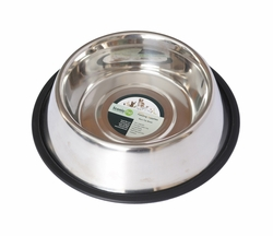 Iconic Pet Stainless Steel Non-Skid Pet Bowl for Dog or Cat 96 oz - 12 cup