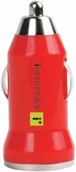 iEssentials - iPhone®/iPod®/Smartphone USB Car Charger (Red)