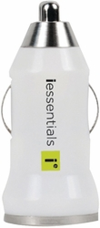 iEssentials - iPhone®/iPod®/Smartphone USB Car Charger (White)