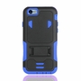 IPhone 6 / 6S Impact Silicone Case Dual Layer with Stand Blue