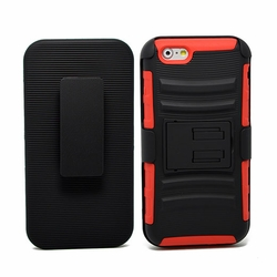 IPhone 6 / 6S Plus Armor Belt Clip Holster Case Cover Red