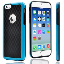 IPhone 6 / 6S Plus Carbon Fiber Protective Back Case Cover Blue