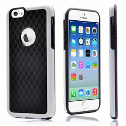 IPhone 6 / 6S Plus Carbon Fiber Protective Back Case Cover White