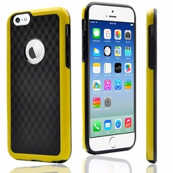 IPhone 6 / 6S Plus Carbon Fiber Protective Back Case Cover Yellow