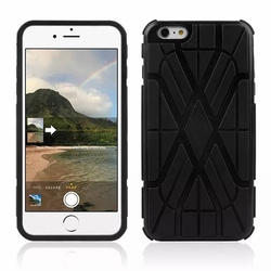IPhone 6 / 6S Plus Spider Max Dual Layers Hybrid Cover Case Black