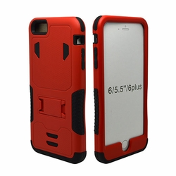 IPhone 6 / 6S Puls Impact Silicone Case Dual Layer with Stand Red