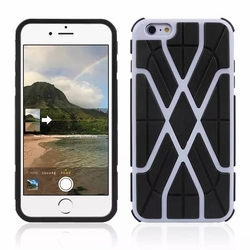 IPhone 6 / 6S Spider Max Dual Layers Hybrid Cover Case Gray