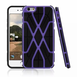 IPhone 6 / 6S Spider Max Dual Layers Hybrid Cover Case Purple