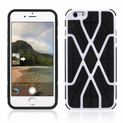 IPhone 6 / 6S Spider Max Dual Layers Hybrid Cover Case White