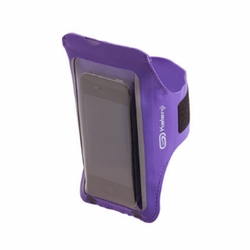 iPhone Armband Case Cover Workout Cell Phone Holder Sports Running Gym - Purple