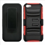 IPhone SE / 5S Armor Belt Clip Holster Case Red