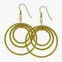 J Goodin Golden Illusion Earrings
