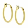 J Goodin Simple Classic Style Small Goldtone finish Hoop Earrings