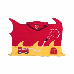Kidorable Infant Baby Toddler Cotton Bathrobe Fireman Towel Medium