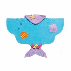 Kidorable Kids Toddler Mermaid Towel Medium Blue