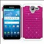 Kyocera Hydro View C6742 Diamond Hybrid Rugged Case Cover Pink