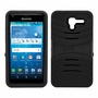 Kyocera Hydro View C6742 Hybrid Silicone Case Cover Stand Black