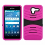 Kyocera Hydro View C6742 Hybrid Silicone Case Cover Stand Pink