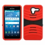 Kyocera Hydro View C6742 Hybrid Silicone Case Cover Stand Red