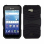 Kyocera Hydro Wave C6740 Hybrid Silicone Case Cover Stand Black