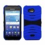 Kyocera Hydro Wave C6740 Hybrid Silicone Case Cover Stand Blue
