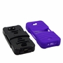Kyocera Hydro Wave C6740 Hybrid Silicone Case Cover Stand Purple