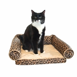 Lazy Lounger Pet Bed - Leopard