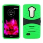 LG G Flex 2 Hybrid Silicone Case Cover Stand Green