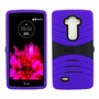 LG G Flex 2 Hybrid Silicone Case Cover Stand Purple