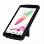 LG G Pad F 7.0 Hybrid Silicone Case Cover Stand Black