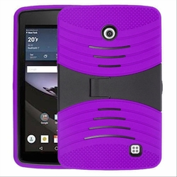 LG G Pad F 7.0 Hybrid Silicone Case Cover Stand Purple