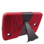 LG G Pad F 8.0 Hybrid Silicone Case Cover Stand Red