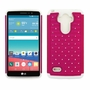 LG G Stylo LS770 Diamond Hybrid Rugged Case Cover Pink