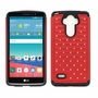LG G Stylo LS770 Diamond Hybrid Rugged Case Cover Red