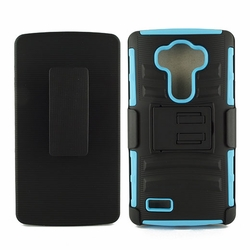 LG G4 Armor Belt Clip Holster Case Cover Blue