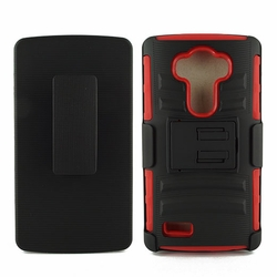 LG G4 Armor Belt Clip Holster Case Cover Red