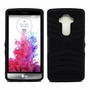 LG G4 Hybrid Silicone Case Cover Stand Black