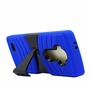 LG G4 Hybrid Silicone Case Cover Stand Blue