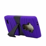 LG G4 Hybrid Silicone Case Cover Stand Purple
