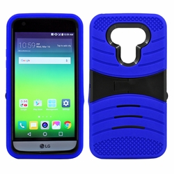 LG G5 Hybrid Silicone Case Cover Stand Blue