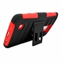 LG K7 / Tribute 5 Armor Belt Clip Holster Case Cover Red