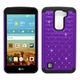 LG K7 Tribute 5 Diamond Hybrid Rugged Case Cover Purple