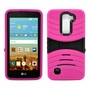 LG K7 / Tribute 5 Hybrid Silicone Case Cover Stand Pink